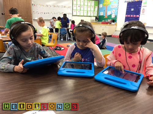 iPad Group Table - Rules, HeidiSongs, TK, Kindergarten