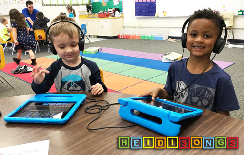 iPad Table, Group, Kindergarten,HeidiSongs, tk