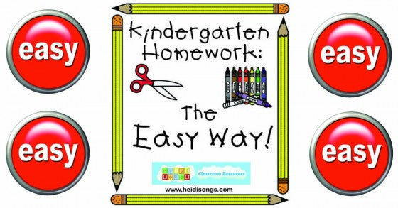 Kindergarten Homework the Easy Way