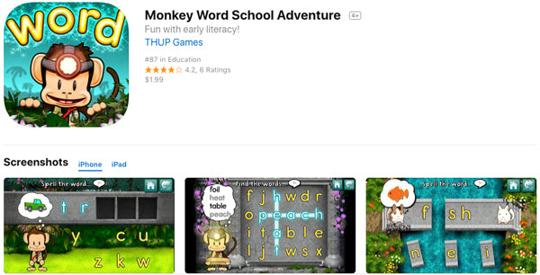 Monkey Word School App