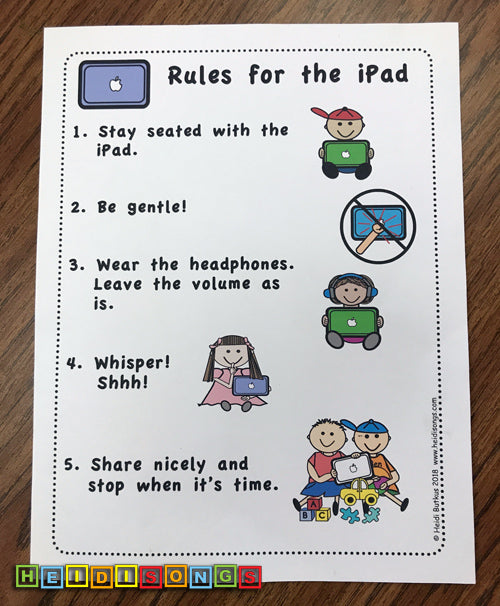 NEW iPad Rules