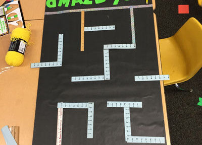 Planning out Pacman Door maze with rulers