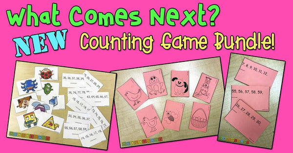 What Comes Next? Game Bundle, heidisongs, kindergarten, counting, numbers, fun