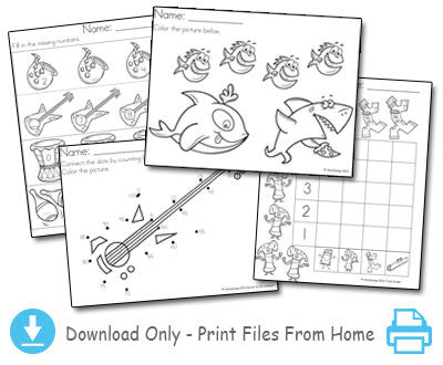 The 1-100 Counting Picture Book - Worksheets Download