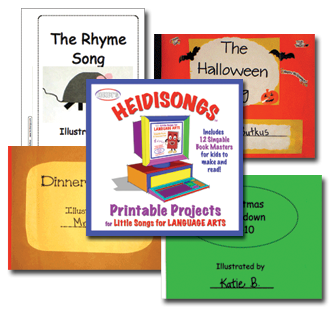 Little Songs for Language Arts Printable Projects