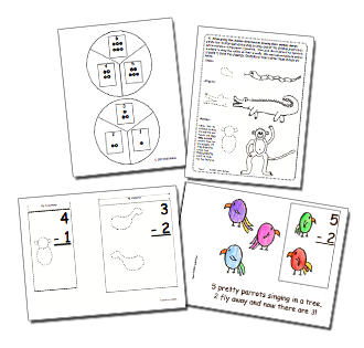 Musical Math Subtraction Lift the Flap Book and Games