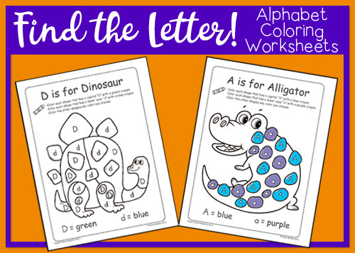 Find the Letter! Alphabet Coloring Worksheets