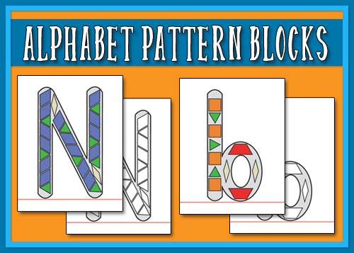 Alphabet Pattern Block Manipulatives