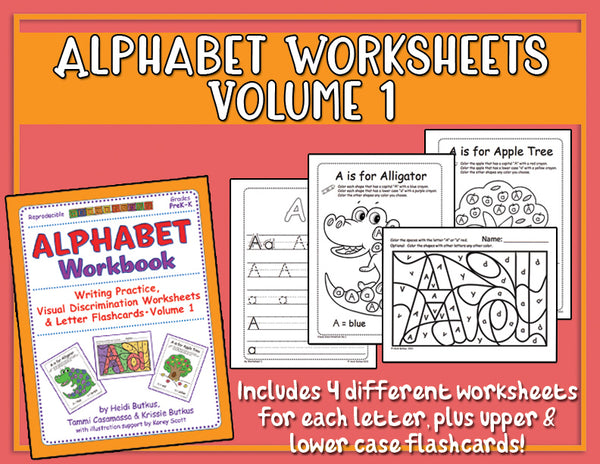 Alphabet Worksheets Volume 1