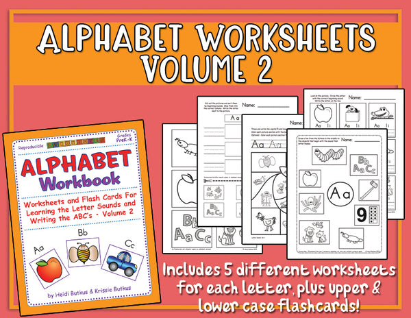 Alphabet Worksheets Volume 2