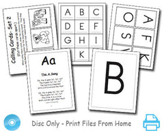 Singable Songs Flashcards & Bingo File on a Disc