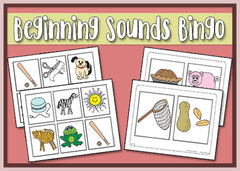 Beginning Sounds Bingo Game