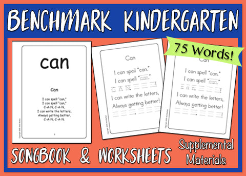 Heidi Songs: Benchmark Kindergarten - Songbook & Worksheets