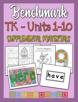 Heidi Songs: Benchmark TK - Supplemental Materials