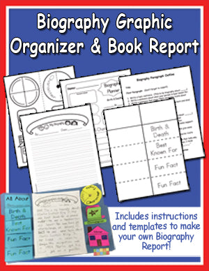 Easy Biography Book Report Lapbook