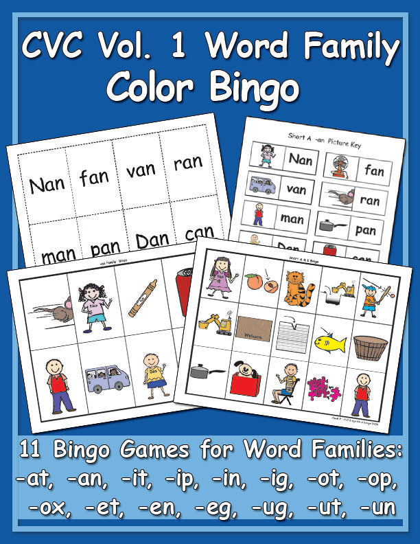 CVC Vol. 1 - Color Bingo Games