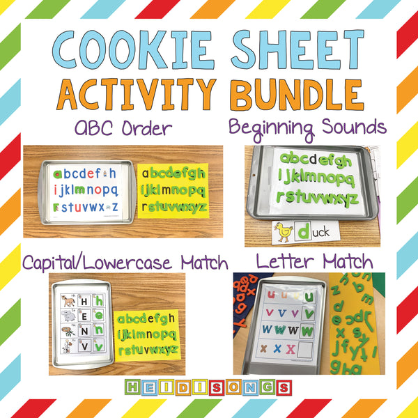 Alphabet Cookie Sheet Activities