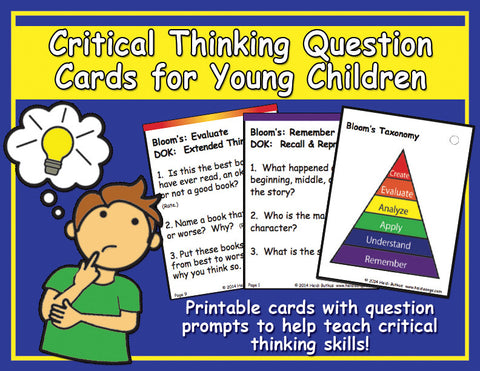 Heidi Songs: Critical Thinking Question Cards