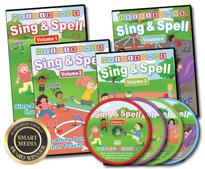 Sing & Spell 1, 2, 3, 4 Animated DVD Collection