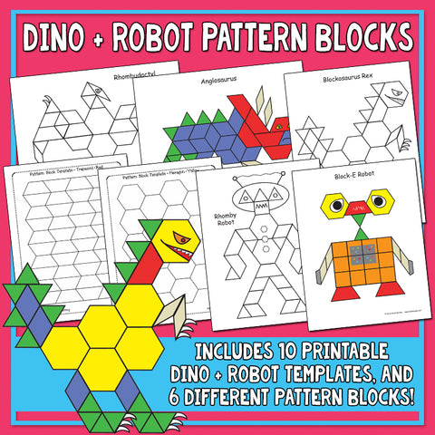 Heidi Songs: Dinosaur & Robot Pattern Block Activity