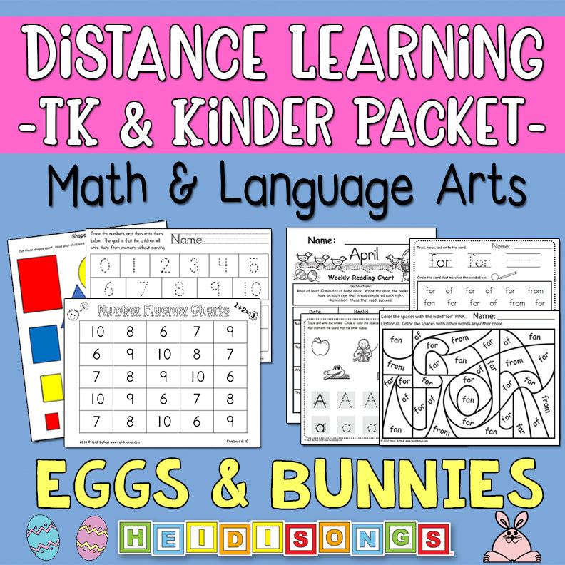 Distance Learning: Easter Eggs & Bunnies