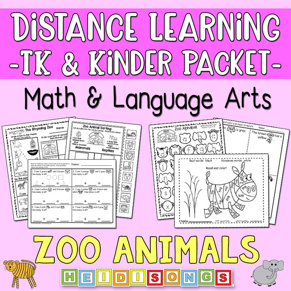 Distance Learning: Zoo Animals