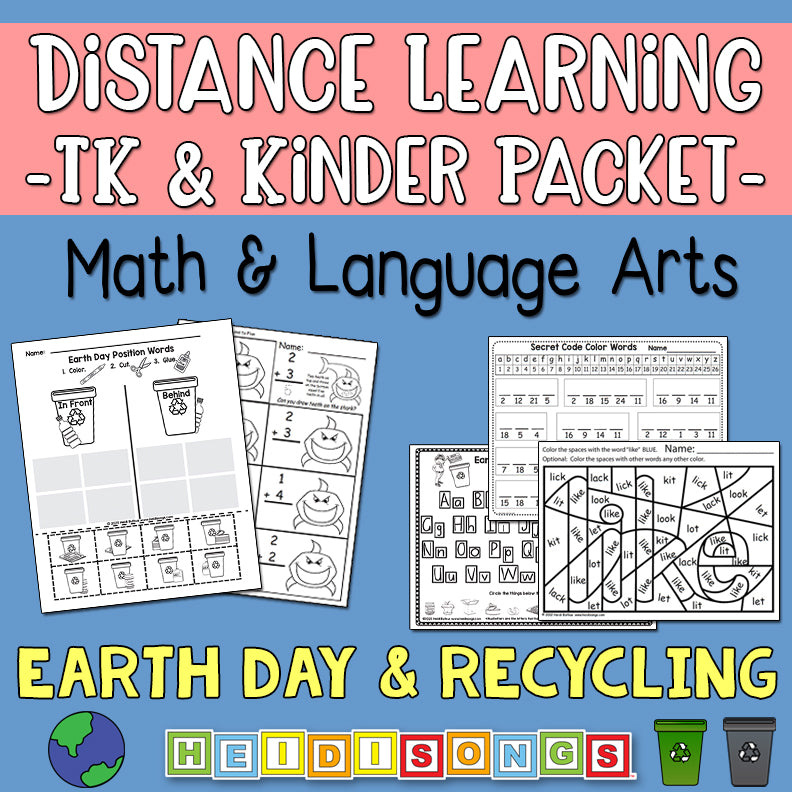 Distance Learning: Earth Day & Recycling