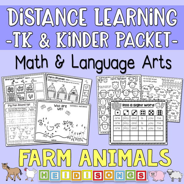 Distance Learning: Farm Animals