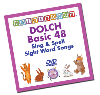 Heidi Songs: Dolch Sight Word Song Collection - Basic 48 Words