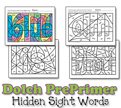 Heidi Songs: Dolch Hidden Sight Word Worksheets