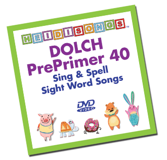 Heidi Songs: Dolch Sight Word Song Collection - Pre-Primer 40 Words