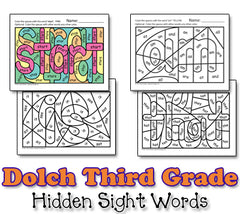Dolch Hidden Sight Word Worksheets