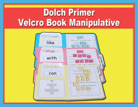 Heidi Songs: Dolch Primer - Velcro Book Manipulative