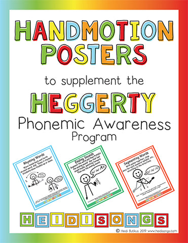Heidi Songs: Handmotion Posters to Supplement the Heggerty Phonemic Awareness Program