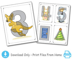 Jumpin' Numbers & Shakin' Shapes Flashcards