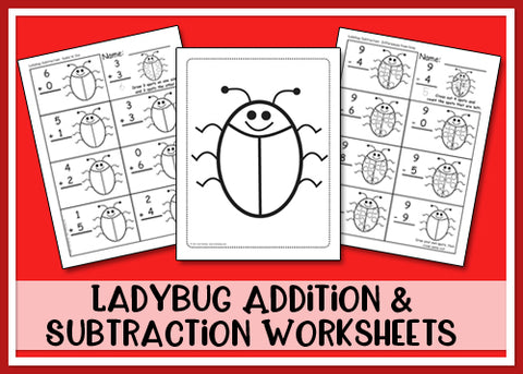 Heidi Songs: Ladybug Addition & Subtraction Worksheets
