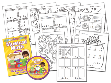 Musical Math Vol. 1 Animated DVD Basic