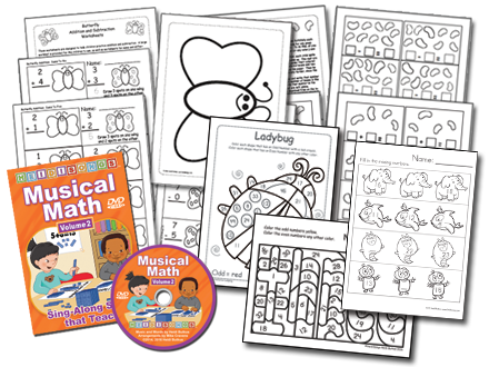 Musical Math Vol. 2 Animated DVD Basic Set
