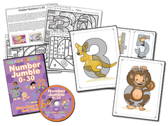 Number Jumble 0-30 DVD Basic Combo