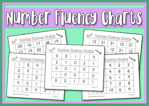 picture about Reading Fluency Chart Printable named Selection Fluency Charts