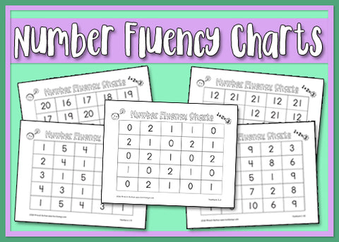 Heidi Songs: Number Fluency Charts