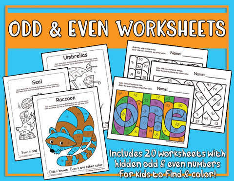 Heidi Songs: Odd & Even Worksheets