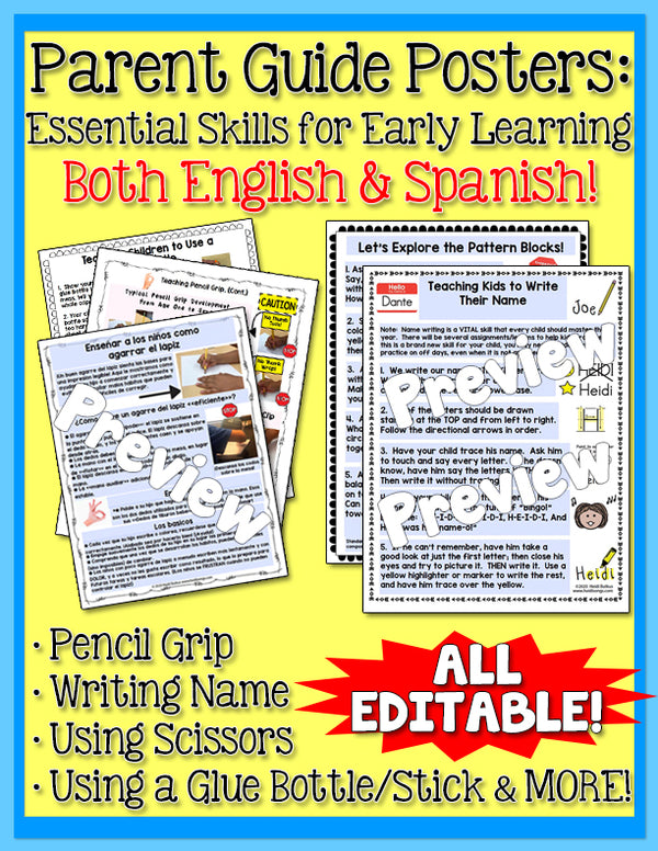 Parent Guide Posters: Essential Skills for Early Learning
