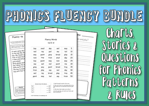 Heidi Songs: Phonics Fluency Stories & Comprehension Worksheets Bundle