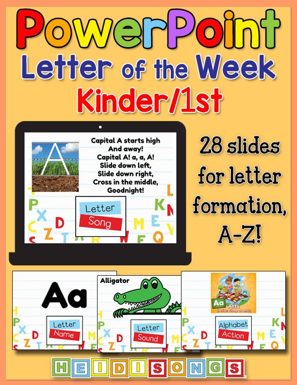 Letter of the Week K/1st Grade Focus Wall Set for PowerPoint
