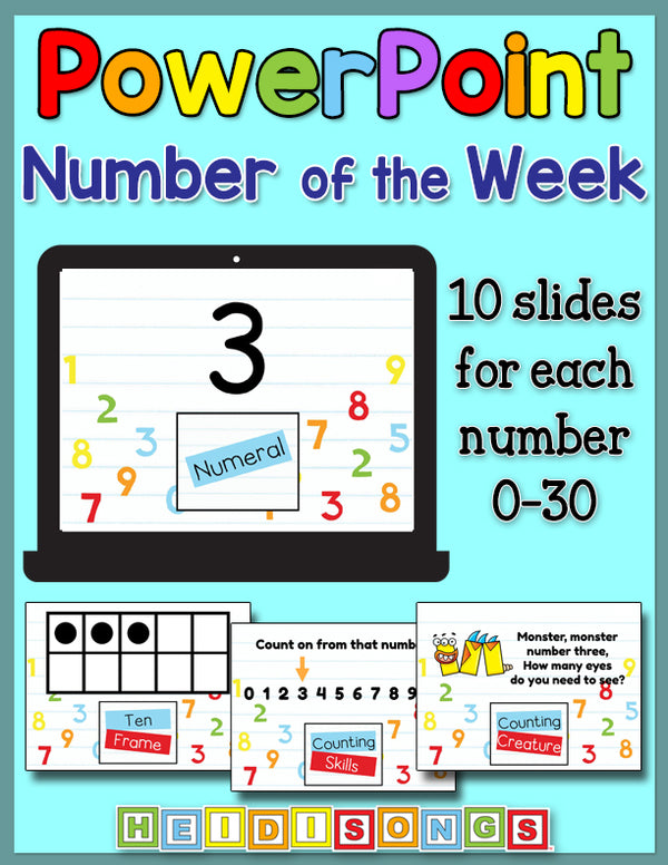 Number of the Week Focus Wall Set for PowerPoint