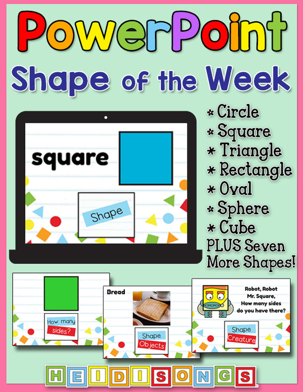 Shape of the Week Focus Wall Set for PowerPoint