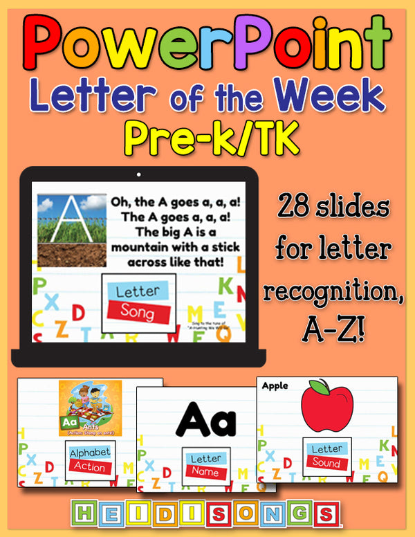 Letter of the Week Prek/TK Focus Wall Set for PowerPoint