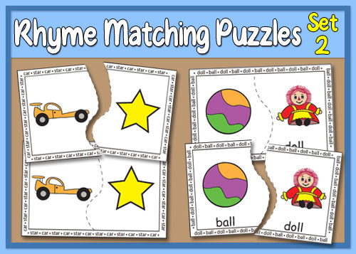 Rhyme Matching Puzzles - Set 2