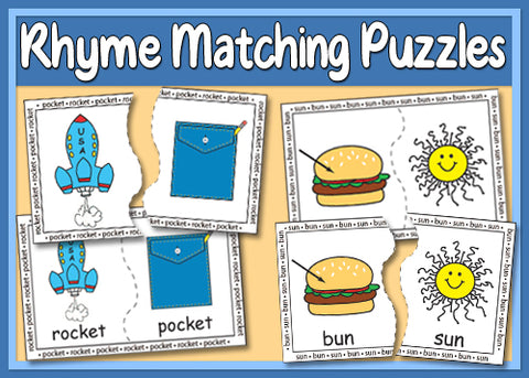 Heidi Songs: Rhyme Matching Puzzles